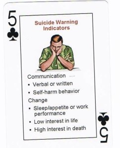 Freedom cards suicide warnings